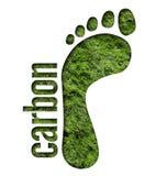 De Voetafdruk van de koolstof Stock Afbeelding