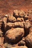 De Voetafdruk van de rots Royalty-vrije Stock Foto