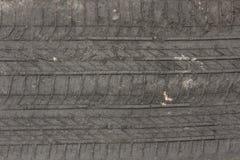 De voetafdruk van het autowiel Stock Afbeelding