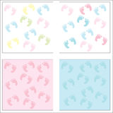 De Voetafdrukken van de baby Stock Afbeeldingen