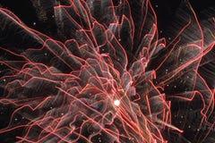 De Voetafdrukken van het vuurwerk Royalty-vrije Stock Afbeeldingen