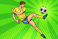 De voetbal heeft de spelen van de zomersporten van de voetbalbal Stock Fotografie