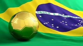 De voetbal van Brazilië Stock Foto's