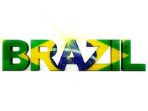 De Voetbal van Brazilië royalty-vrije illustratie
