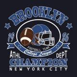 De Voetbal van Brooklyn van de sporttypografie Royalty-vrije Stock Foto's
