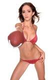 De Voetbal van de bikini stock foto