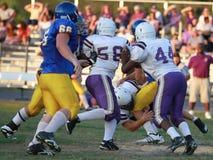 De Voetbal van de Lente van de middelbare school Stock Fotografie