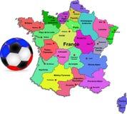 De voetbal van Frankrijk Stock Afbeelding