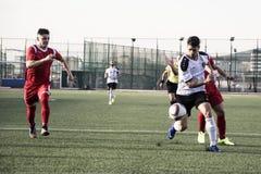 De voetbal van Gibraltar - Europa v Europa Def. van het de Kopkwart van de Puntrots Royalty-vrije Stock Foto
