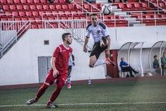 De voetbal van Gibraltar - Europa v Europa Def. van het de Kopkwart van de Puntrots Stock Afbeeldingen