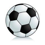 De voetbal van het beeldverhaal Stock Afbeeldingen