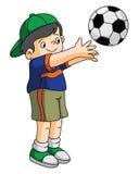 De Voetbal van het jonge geitjesspel Royalty-vrije Stock Afbeelding