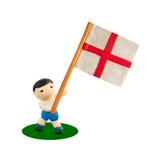 De Voetbal van het kind met de vlag Stock Afbeelding