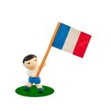De Voetbal van het kind met de vlag Royalty-vrije Stock Afbeelding