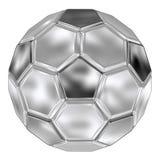 De voetbal van het staal Royalty-vrije Stock Afbeeldingen