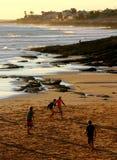 De voetbal van het strand royalty-vrije stock afbeeldingen