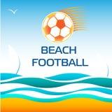 De Voetbal van het strandvoetbal Stock Foto's