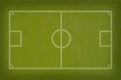 De voetbal van het voetbal op gras Stock Foto