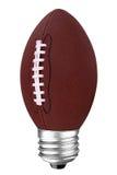 De voetbal van Lightbulb Royalty-vrije Stock Afbeeldingen