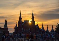 De voetbal van Moskou het Kremlin Stock Afbeelding