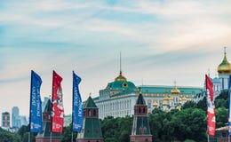 De voetbal van Moskou het Kremlin Stock Foto