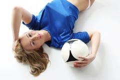 De voetbal van vrouwen. royalty-vrije stock afbeeldingen