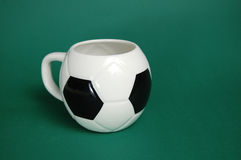 De voetbal vormde geïsoleerde kop Royalty-vrije Stock Foto's