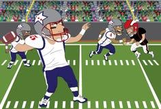 De voetbal werpt royalty-vrije illustratie