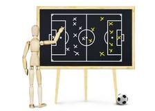 De voetbalbus verklaart het plan voor spel Royalty-vrije Stock Afbeeldingen