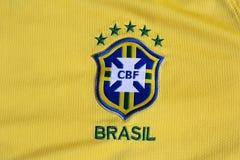 De voetbalfederatie geel Jersey van Brazilië Royalty-vrije Stock Afbeelding