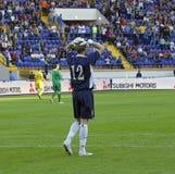 De voetbalgelijke van de Oekraïne - van Litouwen Royalty-vrije Stock Foto
