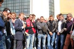 De voetbalherdenking Morosini van Livorno Royalty-vrije Stock Fotografie