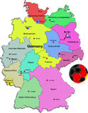 De voetbalillustratie van Duitsland Stock Foto's
