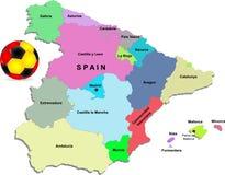 De voetbalillustratie van Spanje stock illustratie