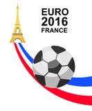 De voetbalkampioenschap van Frankrijk van euro 2016 Stock Foto