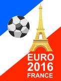 De voetbalkampioenschap van Frankrijk van euro 2016 Royalty-vrije Stock Afbeeldingen