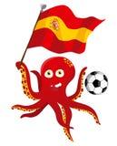De Voetballer van de octopus vector illustratie