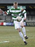 De Voetballer van de voetbal stock foto