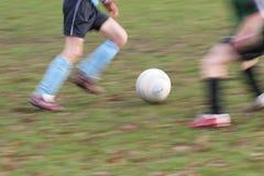 De voetballers vertroebelen Stock Afbeeldingen
