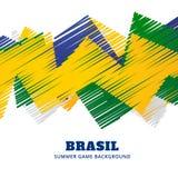 De voetbalspel van Brazilië royalty-vrije illustratie