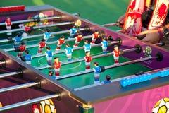De voetbalspel van de lijst Stock Foto's