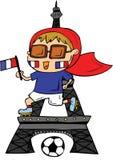 De Voetbalster van Frankrijk royalty-vrije stock afbeelding