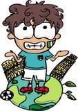 De Voetbalster van Italië stock afbeeldingen