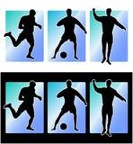 De voetbalsters van het voetbal Royalty-vrije Stock Afbeeldingen