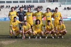 De voetbalteam van Eordaikos Stock Fotografie