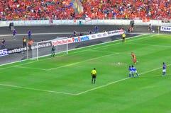 De voetbalteam van Maleisië en van Liverpool Royalty-vrije Stock Fotografie