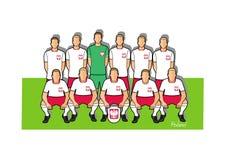 De voetbalteam 2018 van Polen Stock Afbeelding