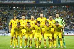 De voetbalteam van Roemenië Stock Afbeelding