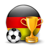 De voetbaltrofeeën van Duitsland Stock Foto's