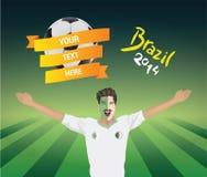 De voetbalventilator van Algerije Stock Afbeelding